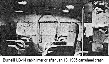 Cabin intact after cartwheel crash.